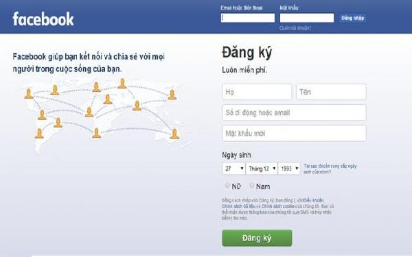Đăng nhập FB
