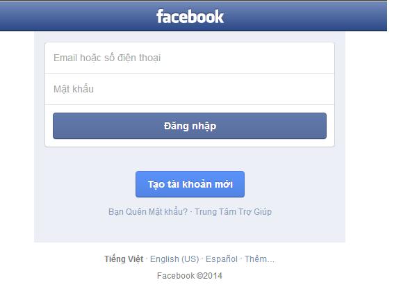 Đăng nhập lại Facebook