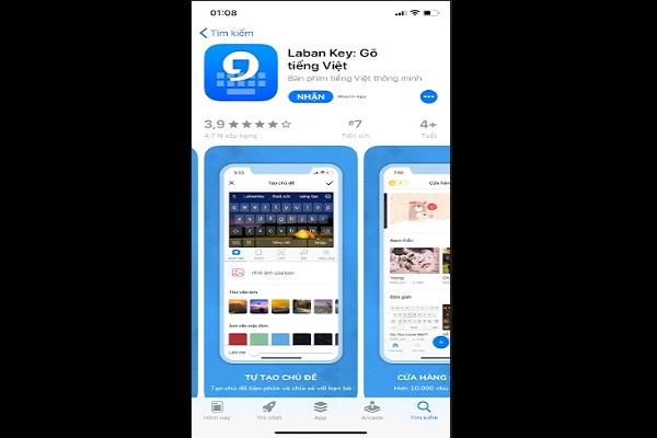Laban Key-ứng dụng chèn ảnh vào bàn phím iphone