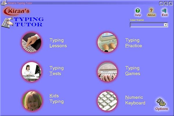 Phần mềm kiran's typing tutor
