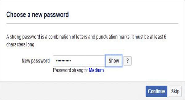 Tạo mật khẩu mới