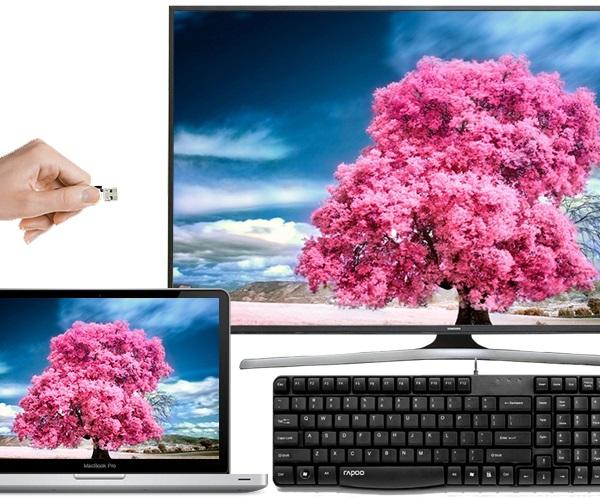 Tivi samsung từ đời 2014 trở đi có thể kết nối với bàn phím không dây.