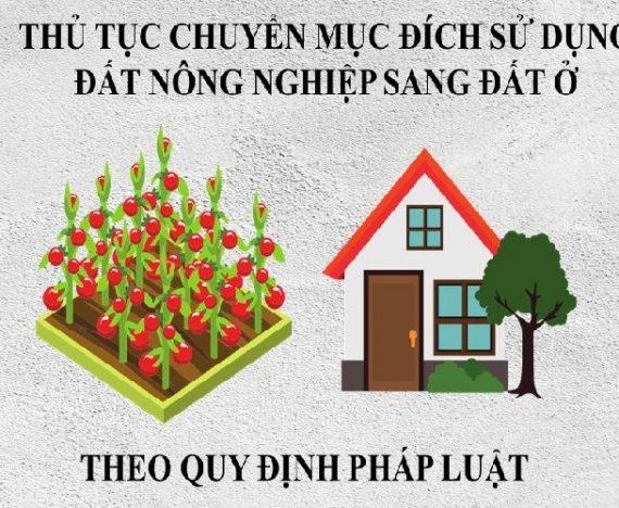 phí chuyển đổi đất nông nghiệp sang đất thổ cư